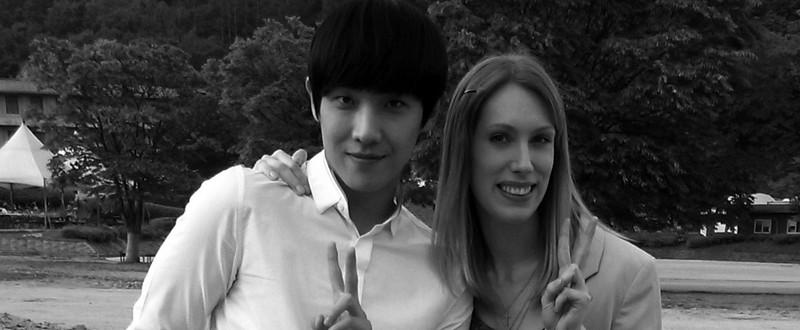 Photo souvenir avec Lee Joon lors du tournage de «Gapdongi»