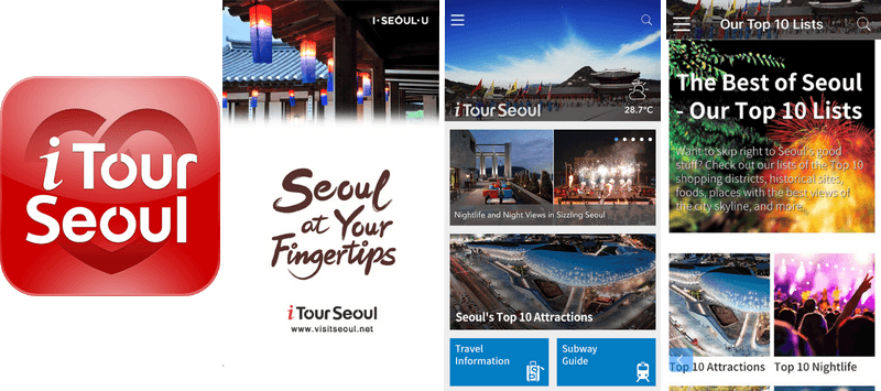 Interface de I Tour Seoul
