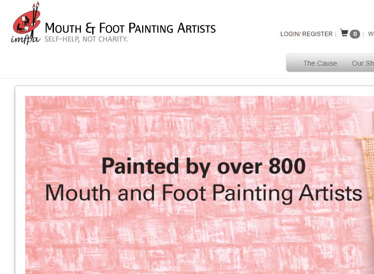 MFPA Artistes coréens peignant de la bouche et du pied