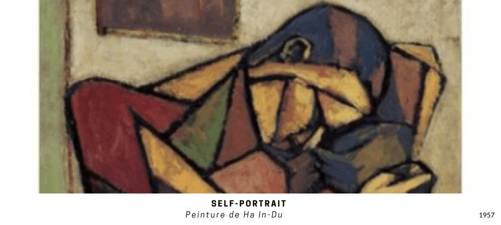 L'expérience interdite - Self-portrait : peinture de Ha in Du