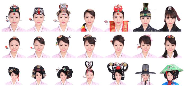 Les coiffures du studio Go Guan