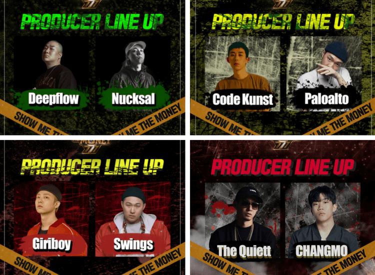 Show Me The Money 777 - producteurs