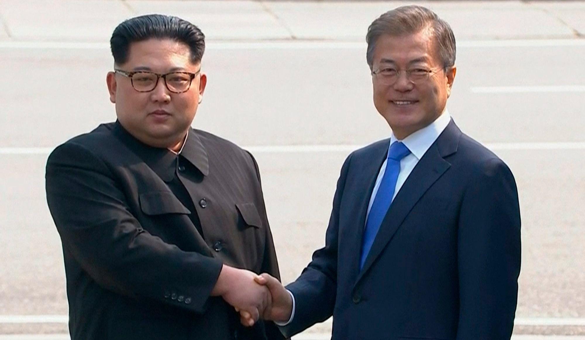Kim Jong Un et Moon Jae In