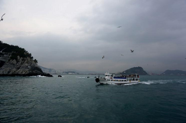 Vue sur l'île Oryukdo