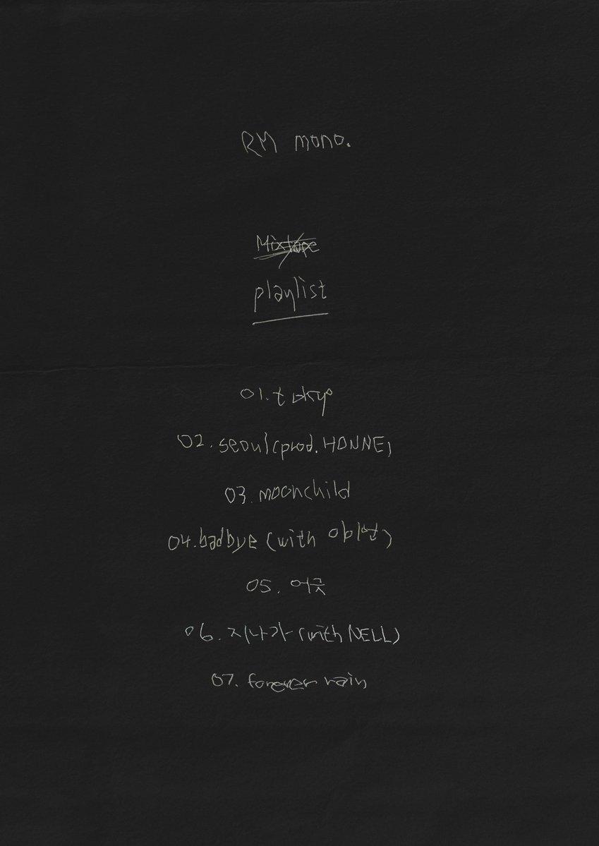 RM mono. tracklist