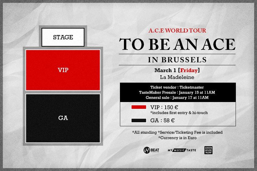 A.C.E affiche concert à Bruxelles, My Music Taste