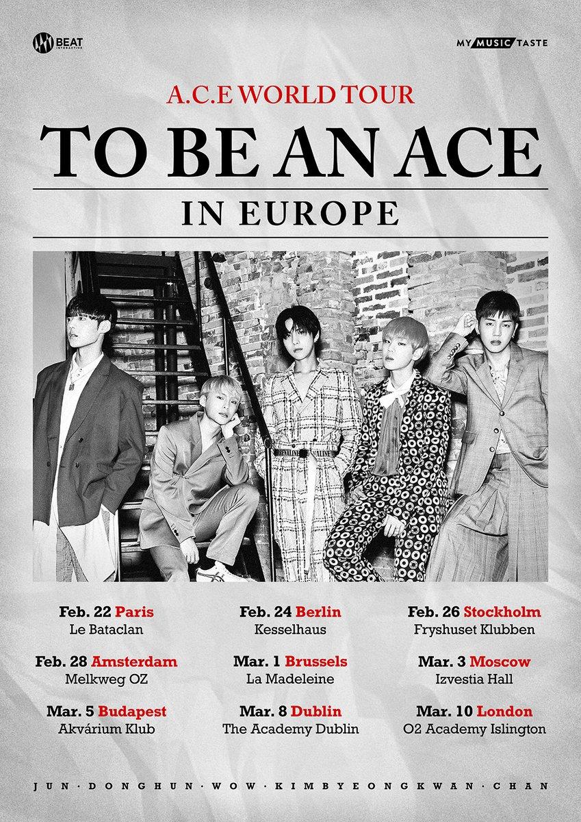 A.C.E Tournée Européenne affiche My Music Taste