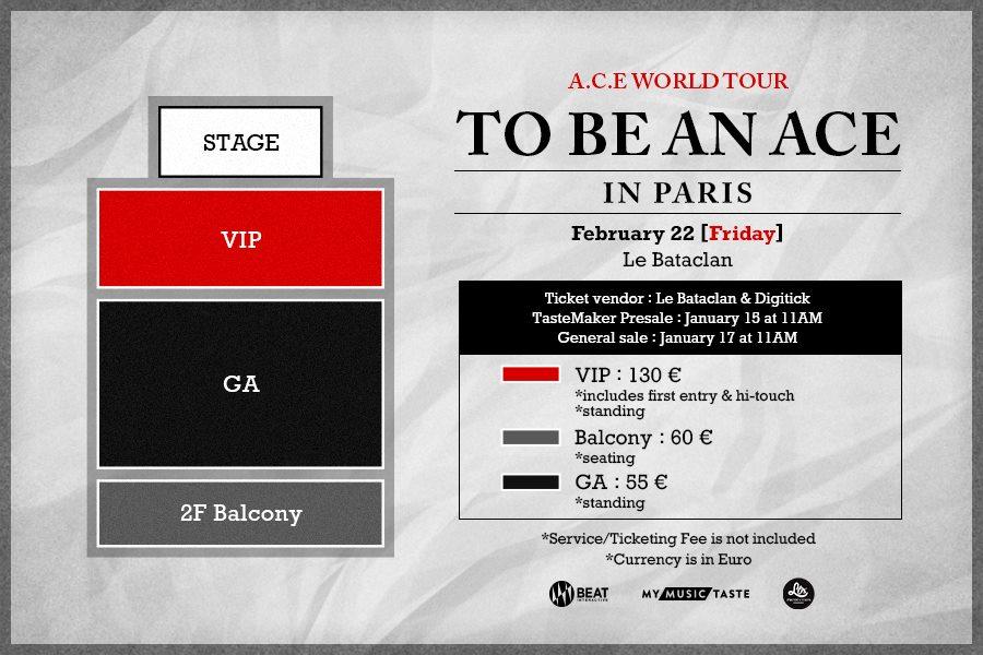 A.C.E affiche concert à Paris au Bataclan, My Music Taste
