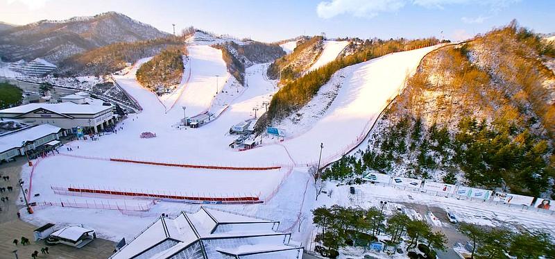 nouvel an à Séoul - station de ski Elysian Gangchon