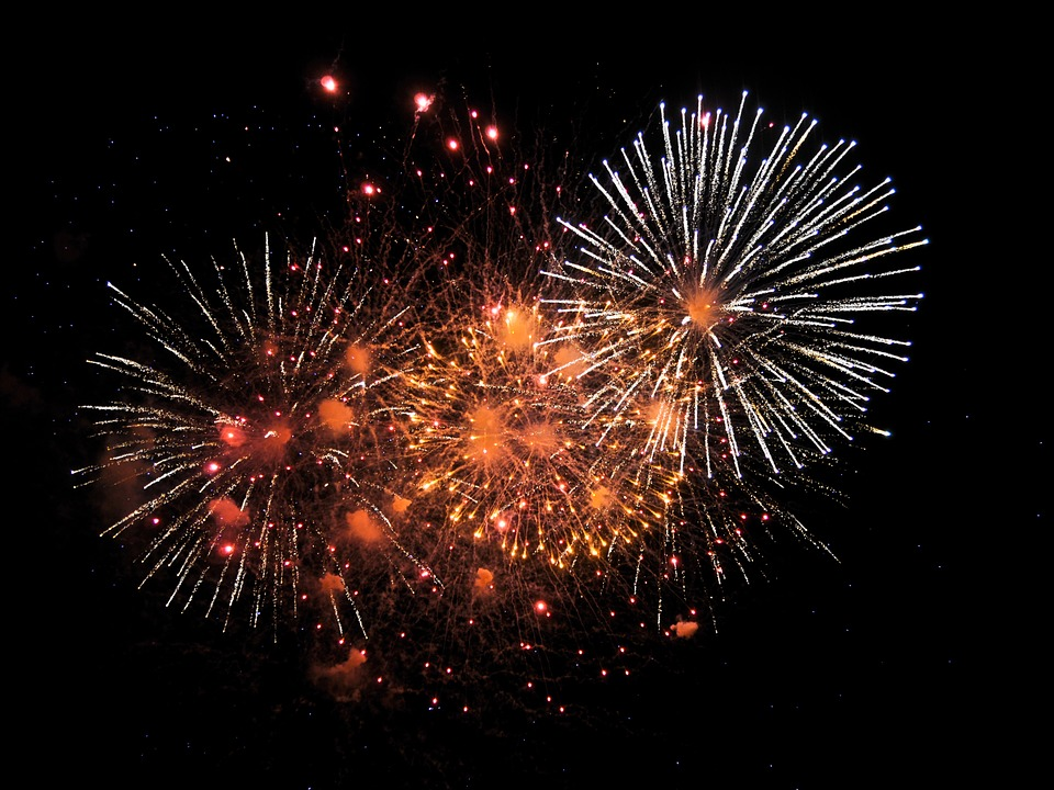 nouvel an à Séoul - feu d'artifice