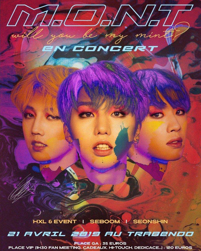 M.O.N.T en concert à Paris, affiche