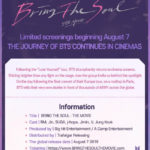 BTS Bring The Soul INFO