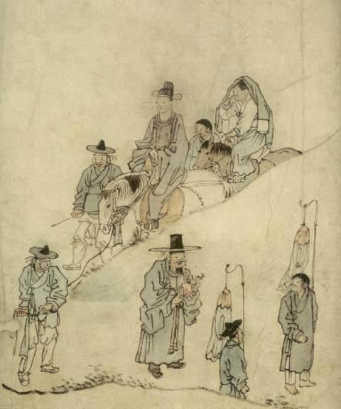 Kim Hong-do dessin