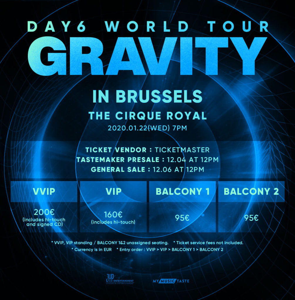 DAY6 Bruxelles Gravity