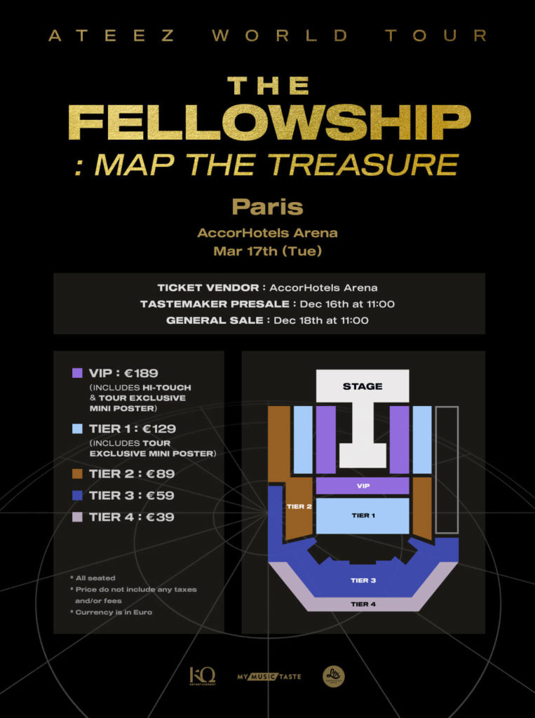 ATEEZ Paris The Fellowship : Map The Treasure AccorHotels Arena