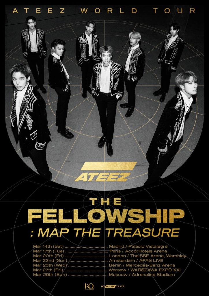 ATEEZ The Felllowship : Map The treasure Europe