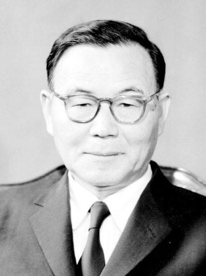 Le président de la Corée du sud Yun Po Sun (1960-1962)
