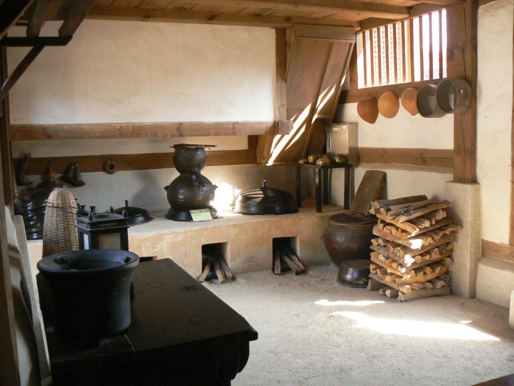 cuisine relier au ondol et réchauffant l'habitation